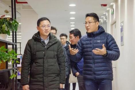 热烈欢迎浙江省省委宣传部事业处副处长朱少平一行莅临趣阅科技参观交流